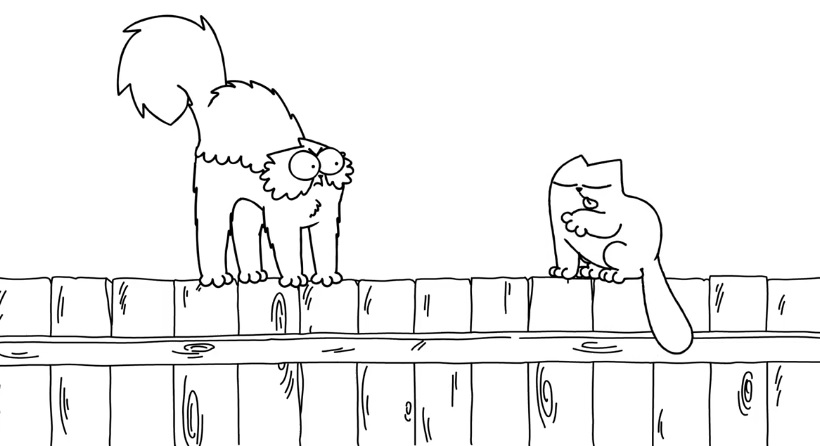 Simon's Cat - On The Fence